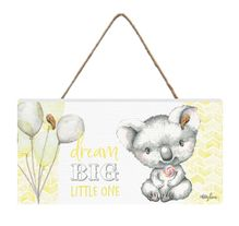 Hanging Plaque 15x30 3D Critters YELLOW