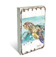 Plaque Block 10x20 Turtle