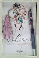 Keyring & Pen Boho Fairy BELIEVE