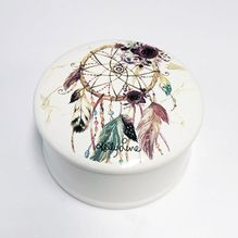 Porcelain Keepsake Box Boho Fairy CATCH