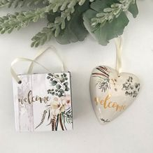Heart Gift Bag Boho Luxe WELCOME