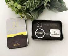 Metal Key Ring Gift Boxed Occassion 21ST