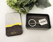 Metal Key Ring Gift Boxed Occassions CON