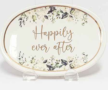 Trinket Dish Set Occassions HAPPILY EVER