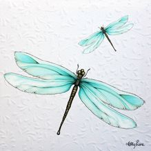 Painting 20x20 Bejewelled DRAGONFLY