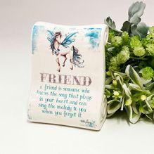 Porcelain Scroll PEGASUS FRIEND