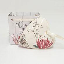 Heart Gift Bag Protea THANK YOU