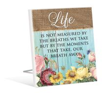 Sentiment Plaque 12x15 3D Heirloom LIFE