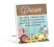 Sentiment Plaque 12x15 3D Heirloom DREAM