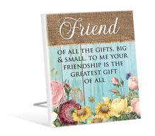 Sentiment 12x15 3D Heirloom FRIENDS