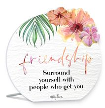 Sentiment 13x15 3D Hibiscus FRIENDSHIP