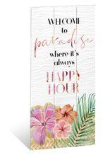 Wall Art 30x60 Hibiscus HAPPY