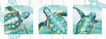 Painting 40x110 Triptych Turtles