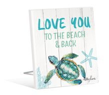 Sentiment 12x15 3D Turtles LOVE YOU