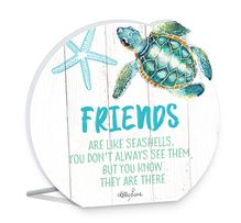 Sentiment Plaque 13x15 3D Turtles FRIEND