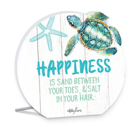 Sentiment 13x15 3D Turtles HAPPINESS