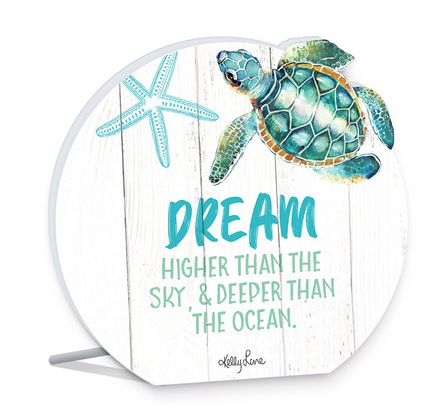Sentiment Plaque 13x15 3D Turtles DREAM