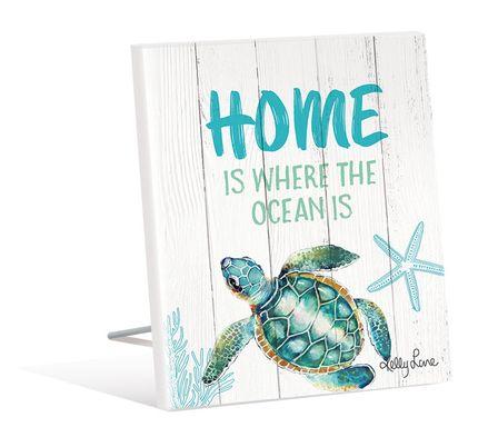 Sentiment Plaque 12x15 3D Turtles HOME