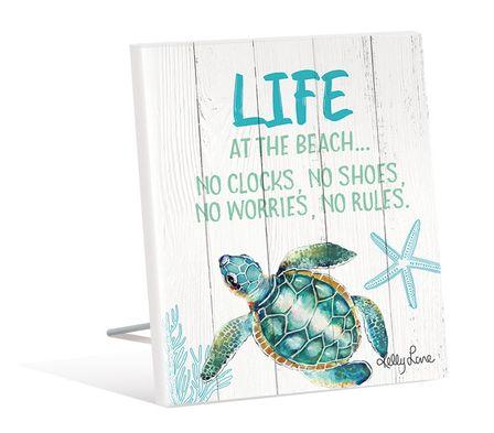 Sentiment Plaque 12x15 3D Turtles LIFE