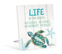 Sentiment Plaque 12x15 3D Turtles LIFE