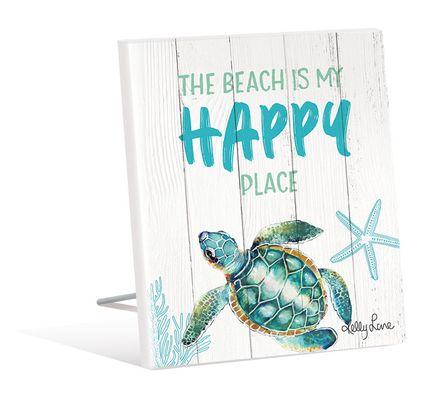 Sentiment Plaque 12x15 3D Turtles HAPPY