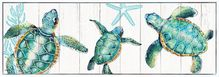 Shadow Framed Painting 50x150 Turtles