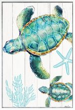Shadow Framed Painting 60x90 Turtles