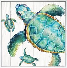 Shadow Framed Painting 100x100 Turtles