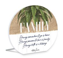 Sentiment Plaque 13x15 3D Oasis FAMILY