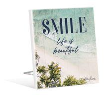 Sentiment Plaque 12x15 3D Oasis SMILE