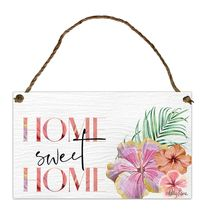 Hanging Tin Sign 18x30 Hibiscus SWEET