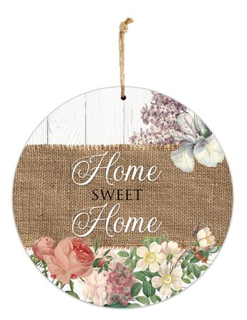 Hanging Tin Sign 30cm Heirloom HOME