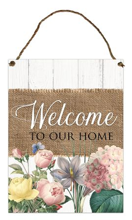 Hanging Tin Sign 30x40 Heirloom WELCOME
