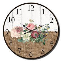 Clock 22cm Heirloom FLORAL