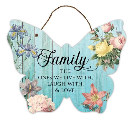 Hanging Tin Sign 24x25 Heirloom FAMILY