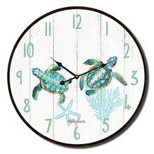 Clock 22cm Turtles TWIN