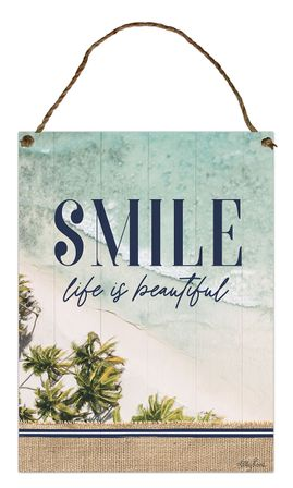 Hanging Tin Sign 30x40cm Oasis SMILE