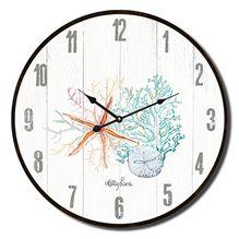Clock 34cm Starfish CORAL