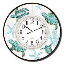 Clock 60cm Turtles WHITE