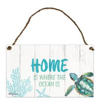Hanging Tin Sign 18x30 Turtles HOME