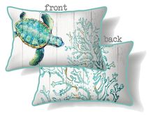 Cushion 30x50 Turtles AQUA