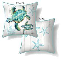 Cushion 45x45 Turtles TWIN