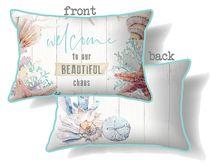 Cushion 30x50 Starfish WELCOME