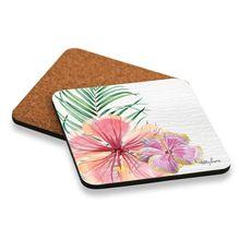 Coaster S/6 10x10 Hibiscus FLOWERS
