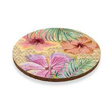 Coaster Round S/6 10cm Hibiscus CLUSTER