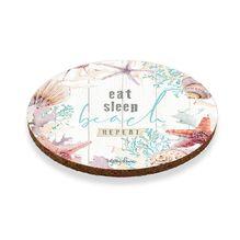 Coaster Round S/6 10cm Starfish EAT