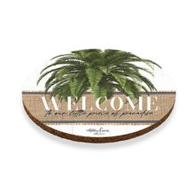 Coaster Round S/6 10cm Oasis WELCOME