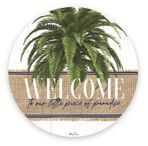 Placemat Round S/6 33cm Oasis WELCOME