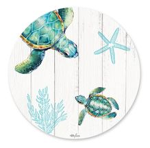 Placemat Round S/6 33cm Turtles TWIN