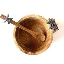 Dip Bowl & Spoon Set 15x11x6 STARFISH